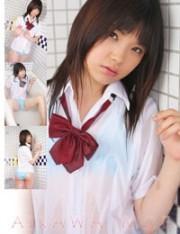 愛川萌  夏服制服ワイシャツでシャワー