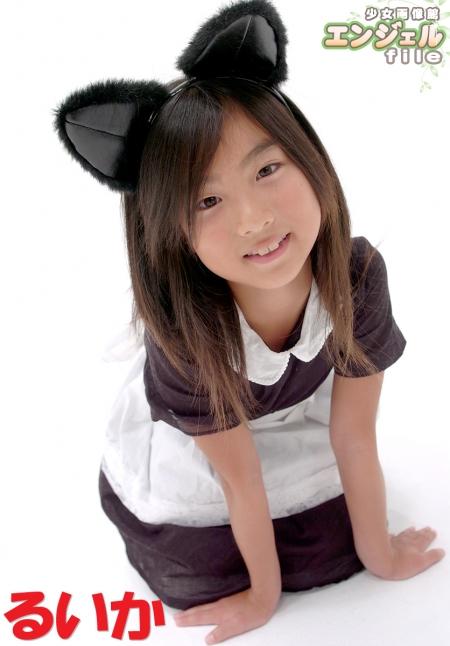少女画像館 エンジェルfile 『るいか 9歳デジタル写真集 Vol.01』 表紙画像